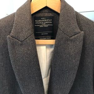 All Saints Wool Herringbone Blazer